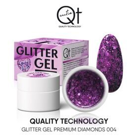 QT Glitter Gel Premium Diamonds №4, 7 гр
