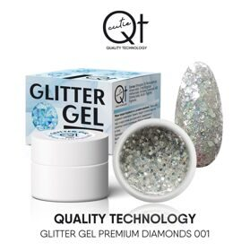 QT Glitter Gel Premium Diamonds №1, 7 гр